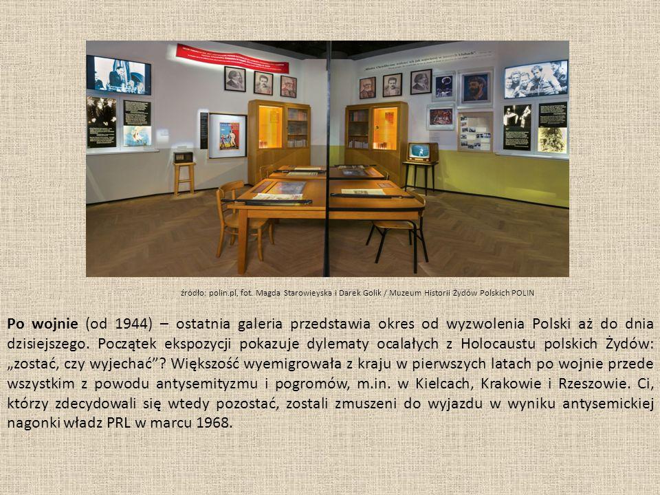 Po wojnie (od 1944) – ostatnia galeria przedstawia okres od wyzwolenia Polski aż do dnia dzisiejszego.