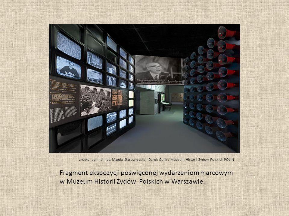 Fragment ekspozycji poświęconej wydarzeniom marcowym w Muzeum Historii Żydów Polskich w Warszawie.