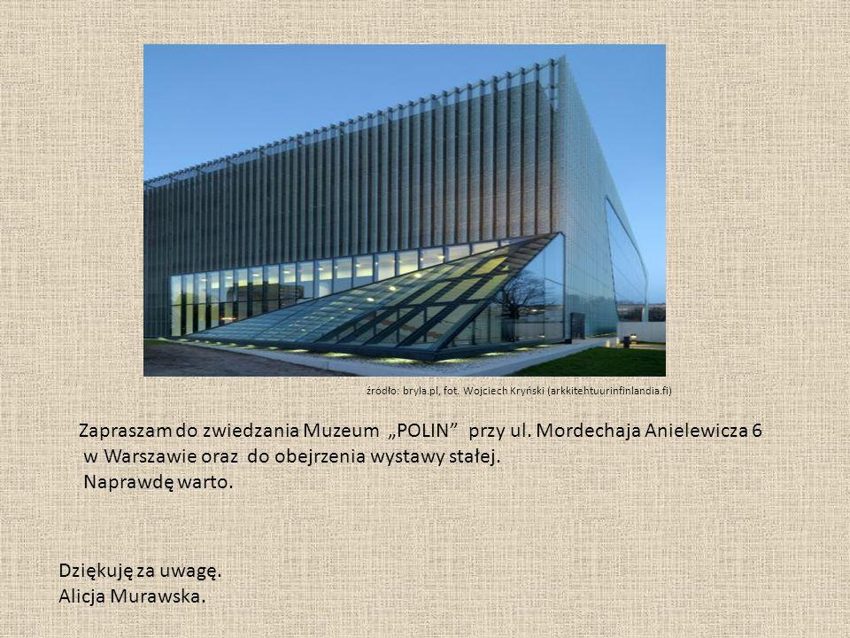 """Zapraszam do zwiedzania Muzeum """"POLIN przy ul."""