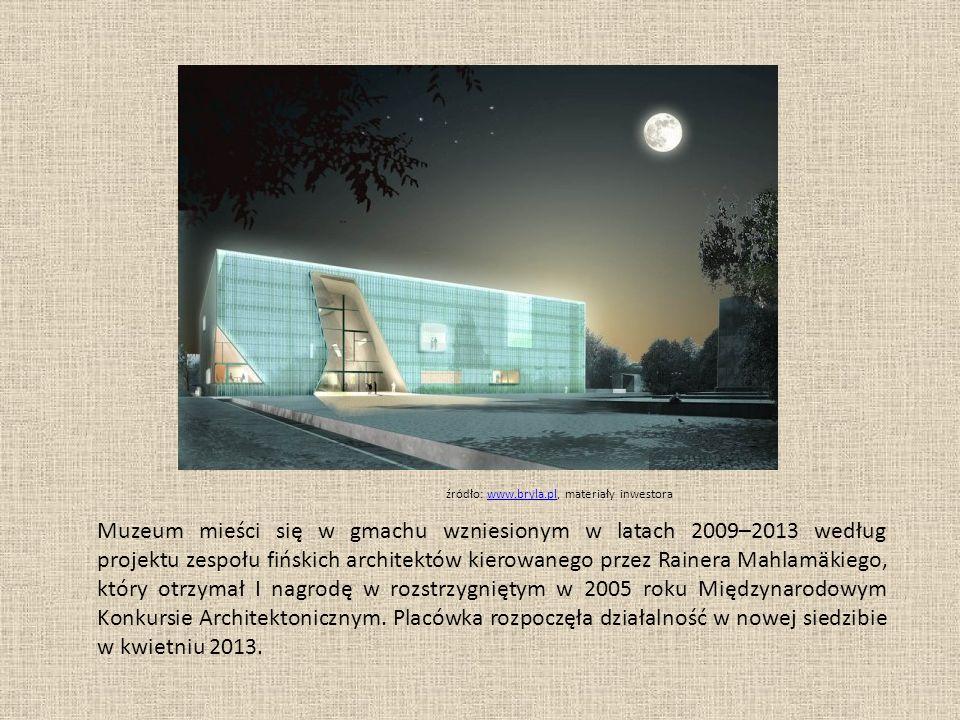 Muzeum mieści się w gmachu wzniesionym w latach 2009–2013 według projektu zespołu fińskich architektów kierowanego przez Rainera Mahlamäkiego, który otrzymał I nagrodę w rozstrzygniętym w 2005 roku Międzynarodowym Konkursie Architektonicznym.