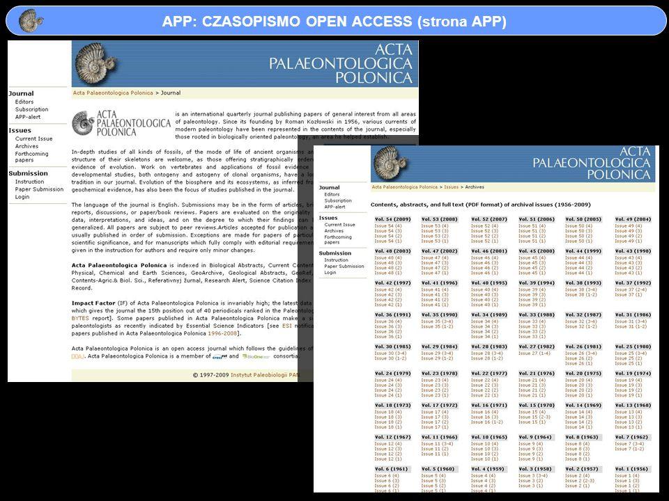 APP: CZASOPISMO OPEN ACCESS (strona APP)