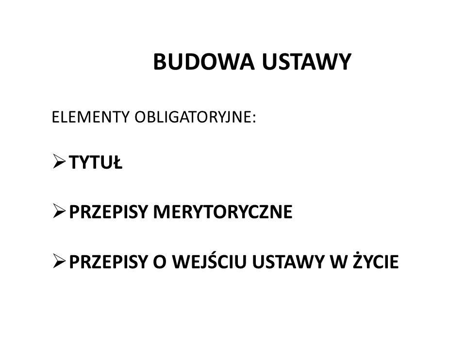 Przykład wątpliwej wykładni rozszerzającej: USTAWA z dnia 20 czerwca 1997 r.