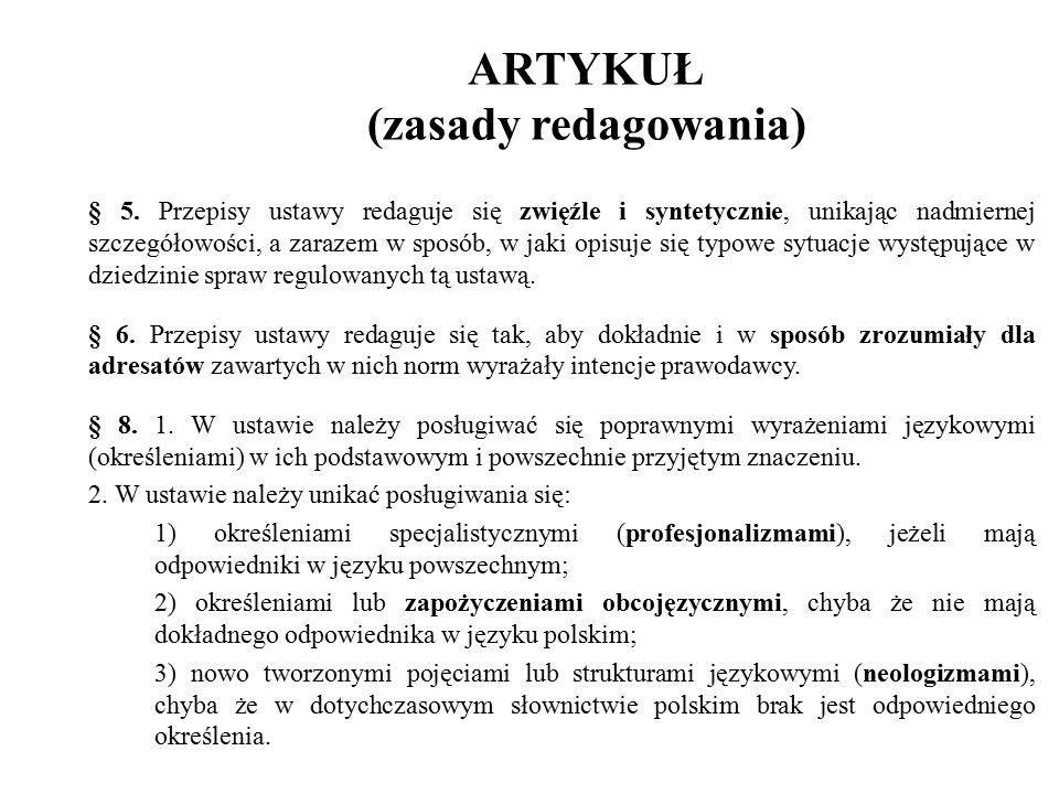 ARTYKUŁ (zasady redagowania) § 5.
