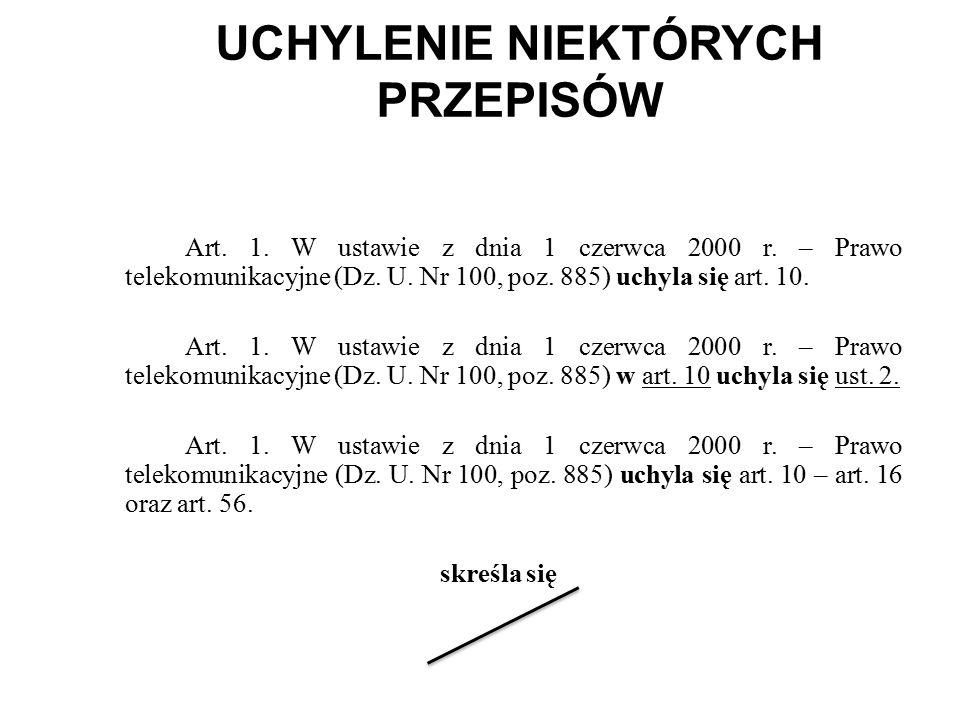 UCHYLENIE NIEKTÓRYCH PRZEPISÓW Art.1. W ustawie z dnia 1 czerwca 2000 r.