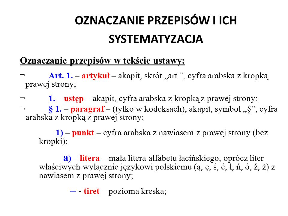 """PRZYKŁAD BŁĘDU REDAKCYJNEGO (zdanie wielokrotnie złożone ) """"Art."""