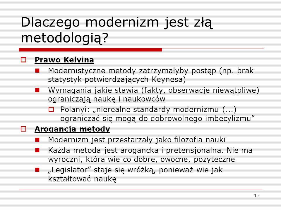 13 Dlaczego modernizm jest złą metodologią.