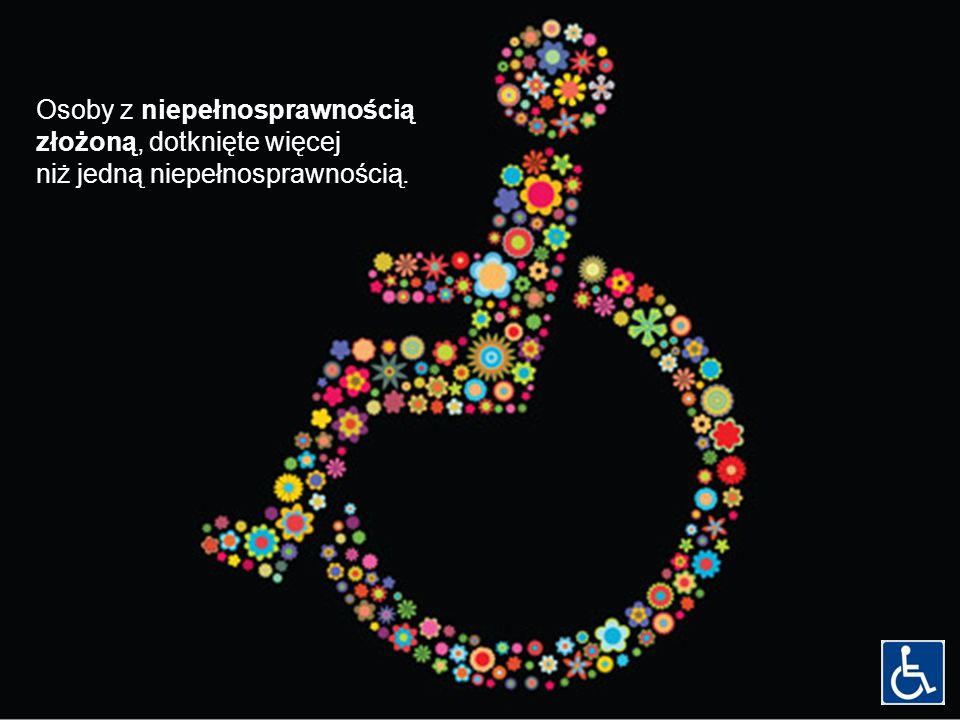Osoby z niepełnosprawnością złożoną, dotknięte więcej niż jedną niepełnosprawnością.