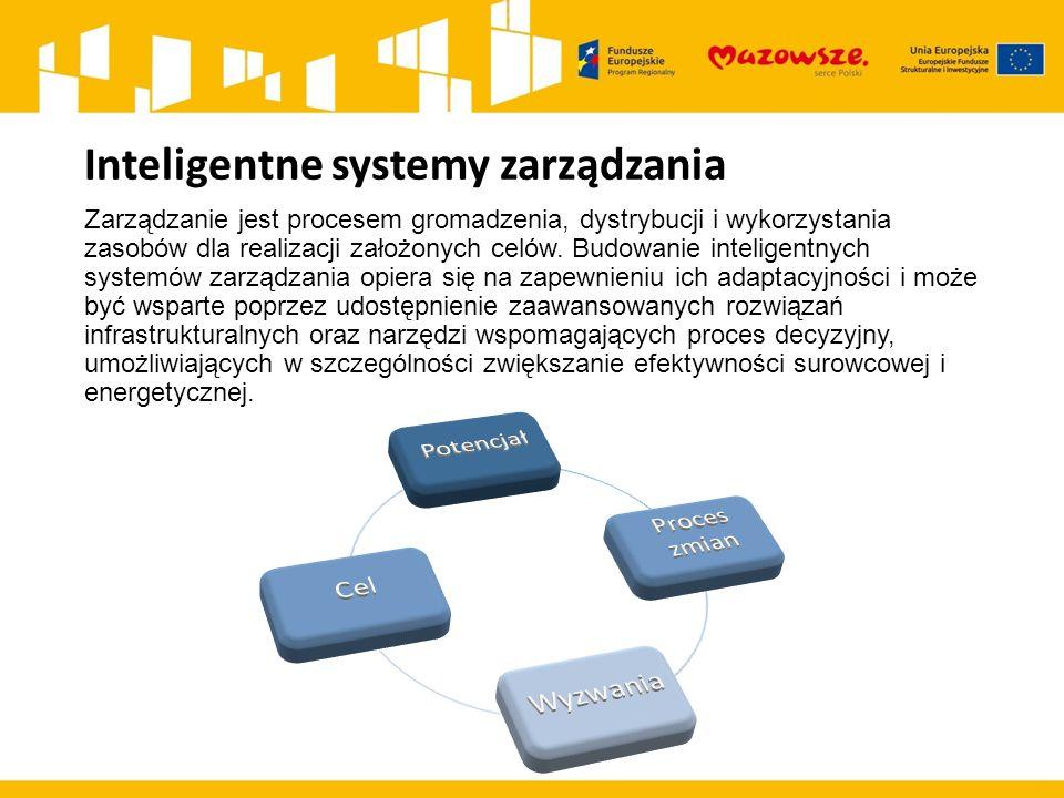 Inteligentne systemy zarządzania Zarządzanie jest procesem gromadzenia, dystrybucji i wykorzystania zasobów dla realizacji założonych celów.