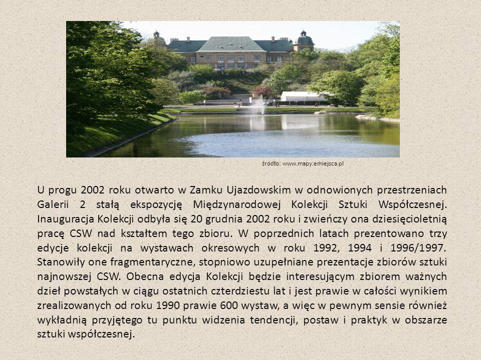 U progu 2002 roku otwarto w Zamku Ujazdowskim w odnowionych przestrzeniach Galerii 2 stałą ekspozycję Międzynarodowej Kolekcji Sztuki Współczesnej.