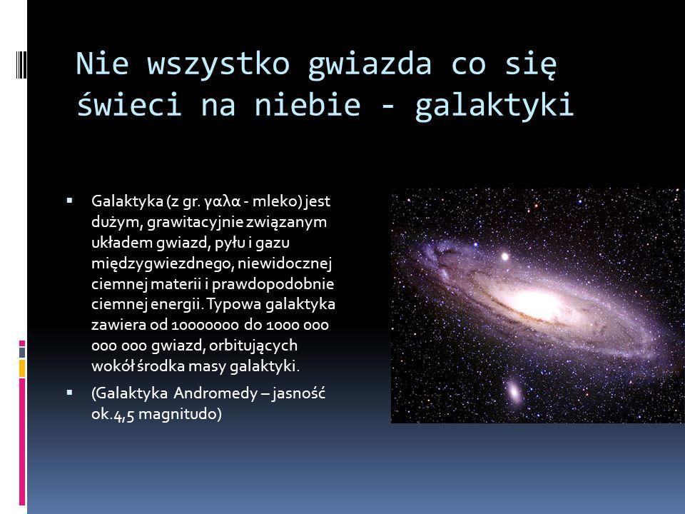 Nie wszystko gwiazda co się świeci na niebie - galaktyki  Galaktyka (z gr.