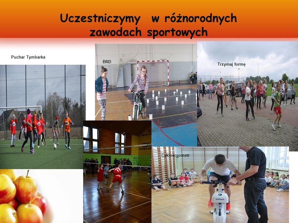 Uczestniczymy w różnorodnych zawodach sportowych Puchar Tymbarka BRD Trzymaj formę Cykloergometr