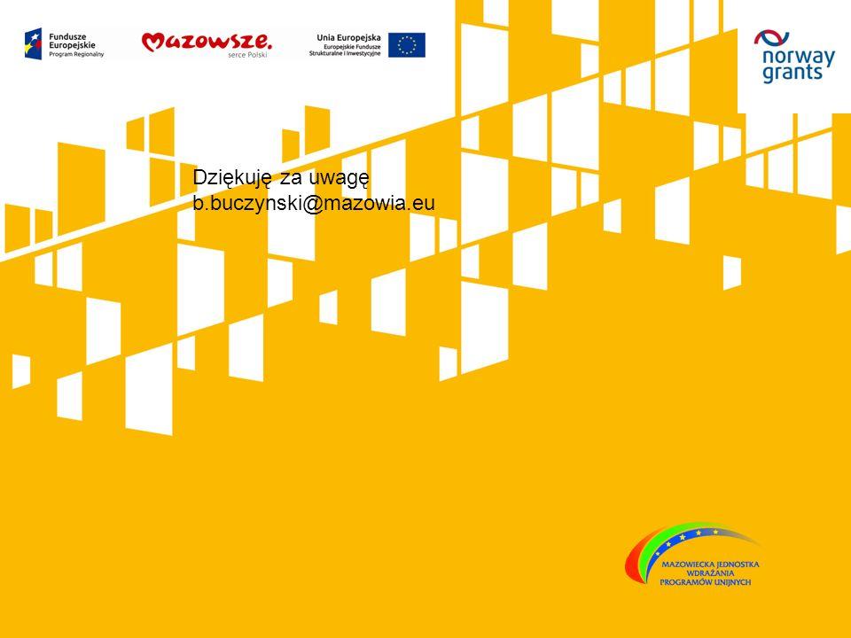 Dziękuję za uwagę b.buczynski@mazowia.eu