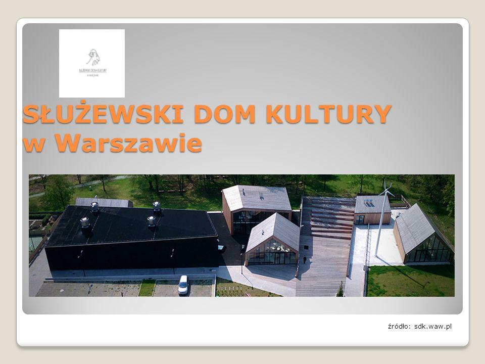 SŁUŻEWSKI DOM KULTURY w Warszawie źródło: sdk.waw.pl