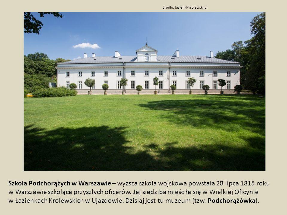 Szkoła Podchorążych w Warszawie – wyższa szkoła wojskowa powstała 28 lipca 1815 roku w Warszawie szkoląca przyszłych oficerów.