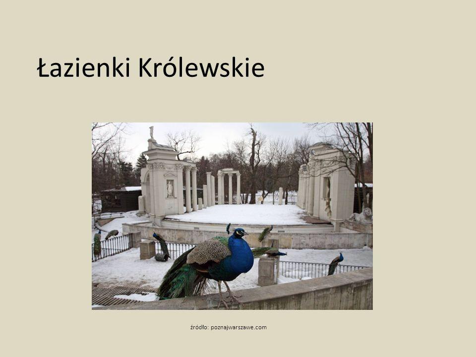 Łazienki Królewskie źródło: poznajwarszawe.com