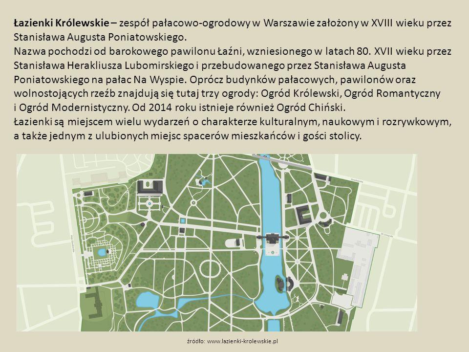 Łazienki Królewskie – zespół pałacowo-ogrodowy w Warszawie założony w XVIII wieku przez Stanisława Augusta Poniatowskiego.