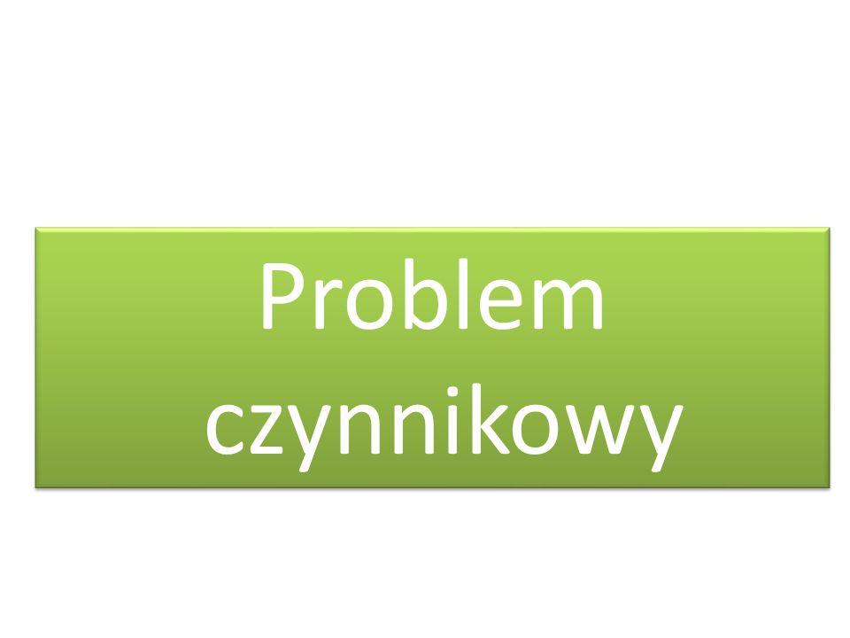Problem czynnikowy
