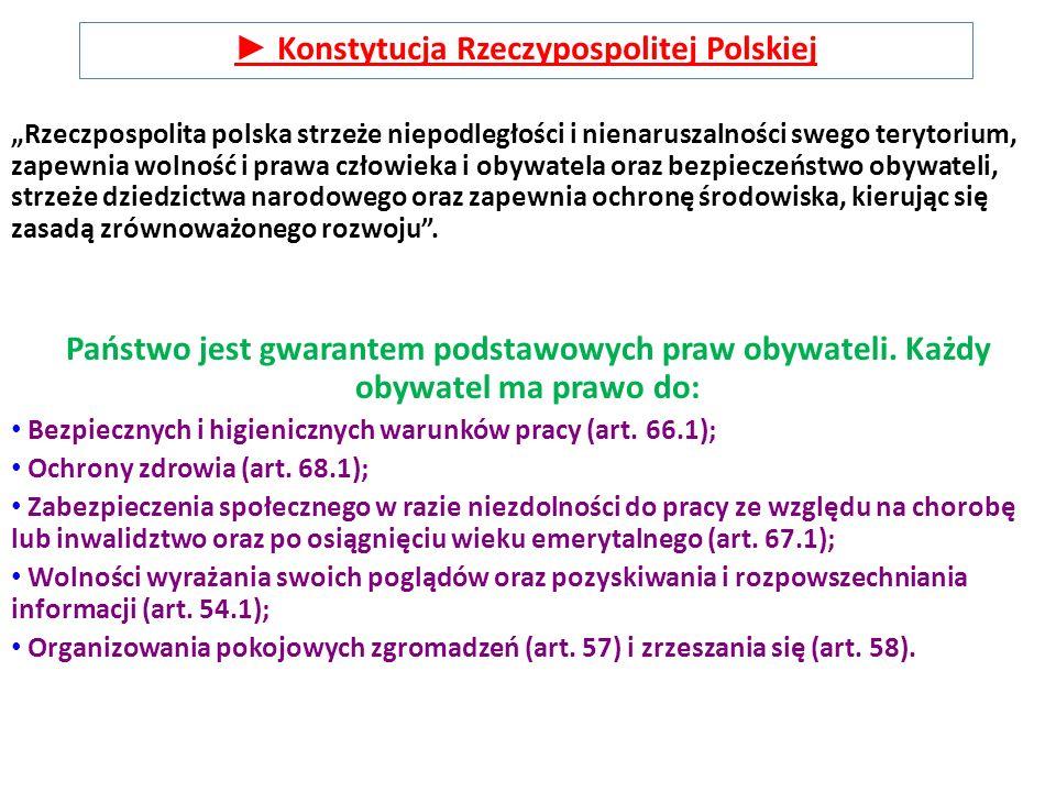 """""""Rzeczpospolita polska strzeże niepodległości i nienaruszalności swego terytorium, zapewnia wolność i prawa człowieka i obywatela oraz bezpieczeństwo"""