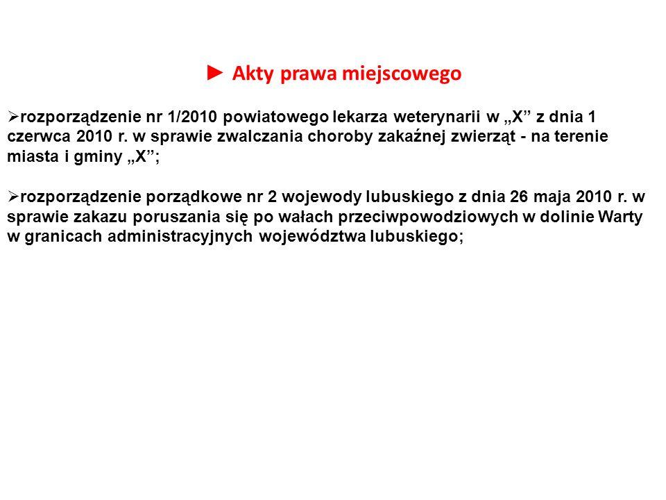 """► Akty prawa miejscowego  rozporządzenie nr 1/2010 powiatowego lekarza weterynarii w """"X"""" z dnia 1 czerwca 2010 r. w sprawie zwalczania choroby zakaźn"""