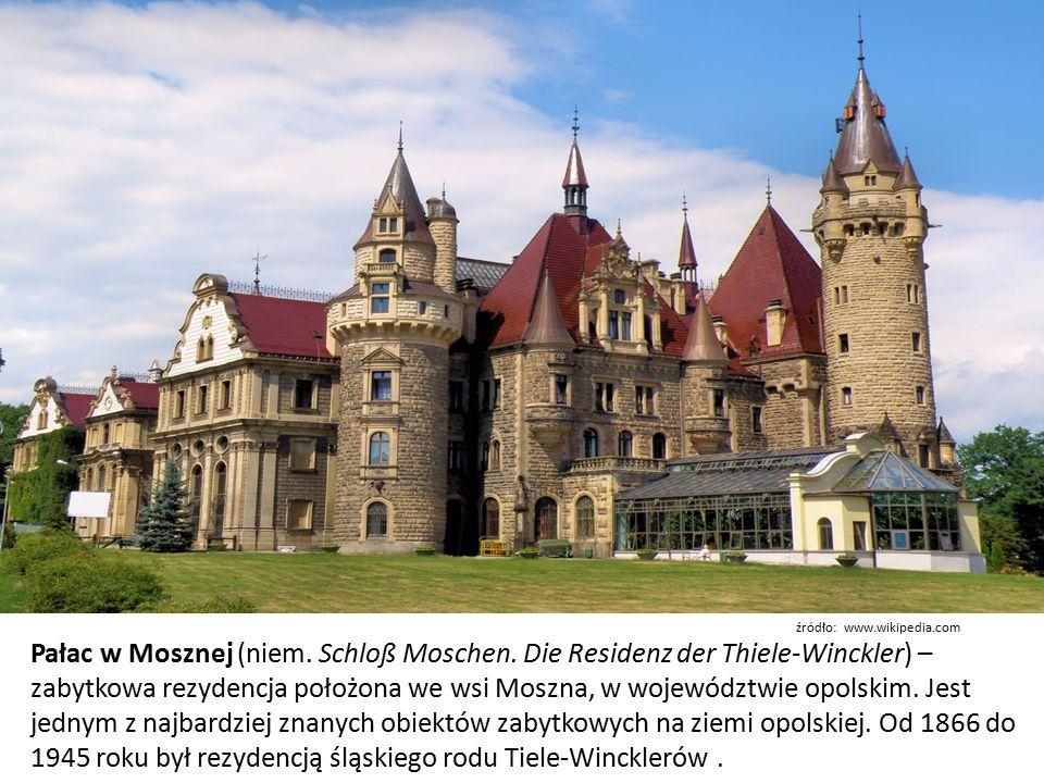 Pałac w Mosznej (niem. Schloß Moschen.
