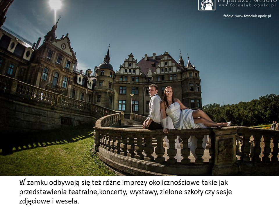 W zamku odbywają się też różne imprezy okolicznościowe takie jak przedstawienia teatralne,koncerty, wystawy, zielone szkoły czy sesje zdjęciowe i wesela.