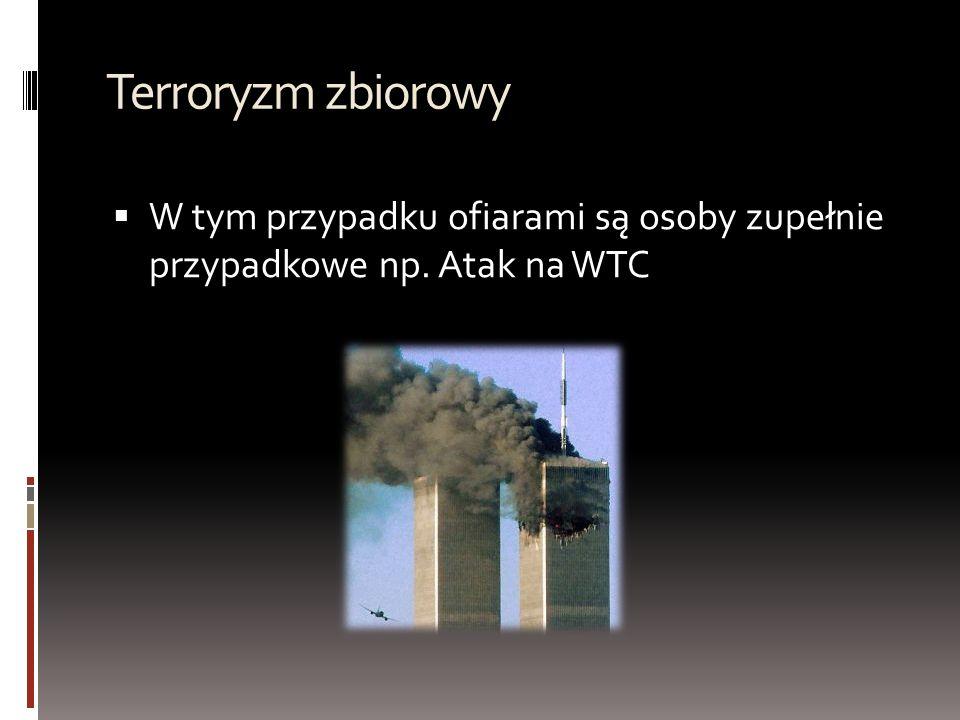 Podział organizacji terrorystycznych TTerroryzm islamski TTerroryzm lewicowy TTerroryzm prawicowy TTerroryzm neonazistowski TTerroryzm etniczno – niepodległościowy