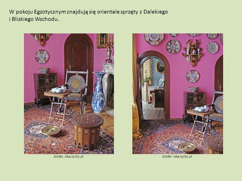 W pokoju Egzotycznym znajdują się orientale sprzęty z Dalekiego i Bliskiego Wschodu.