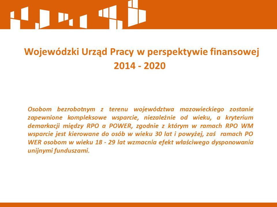Osobom bezrobotnym z terenu województwa mazowieckiego zostanie zapewnione kompleksowe wsparcie, niezależnie od wieku, a kryterium demarkacji między RPO a POWER, zgodnie z którym w ramach RPO WM wsparcie jest kierowane do osób w wieku 30 lat i powyżej, zaś ramach PO WER osobom w wieku 18 - 29 lat wzmacnia efekt właściwego dysponowania unijnymi funduszami.