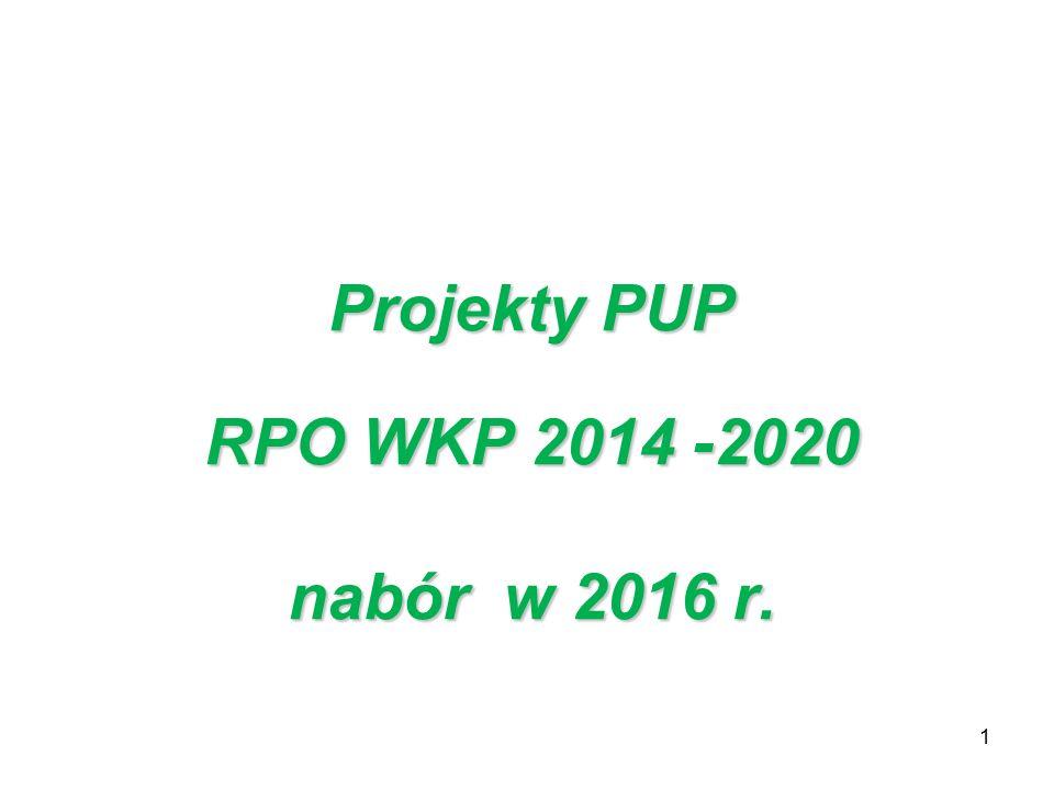 1 Projekty PUP RPO WKP 2014 -2020 nabór w 2016 r.