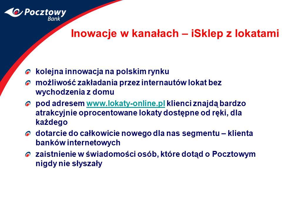 Inowacje w kanałach – iSklep z lokatami kolejna innowacja na polskim rynku możliwość zakładania przez internautów lokat bez wychodzenia z domu pod adr