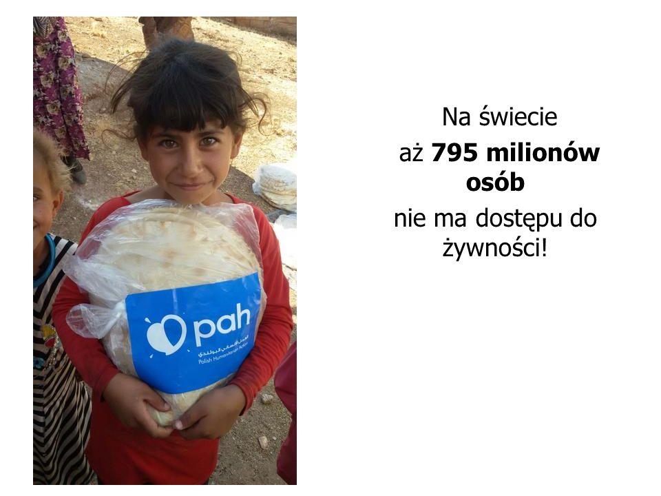 Na świecie aż 795 milionów osób nie ma dostępu do żywności!