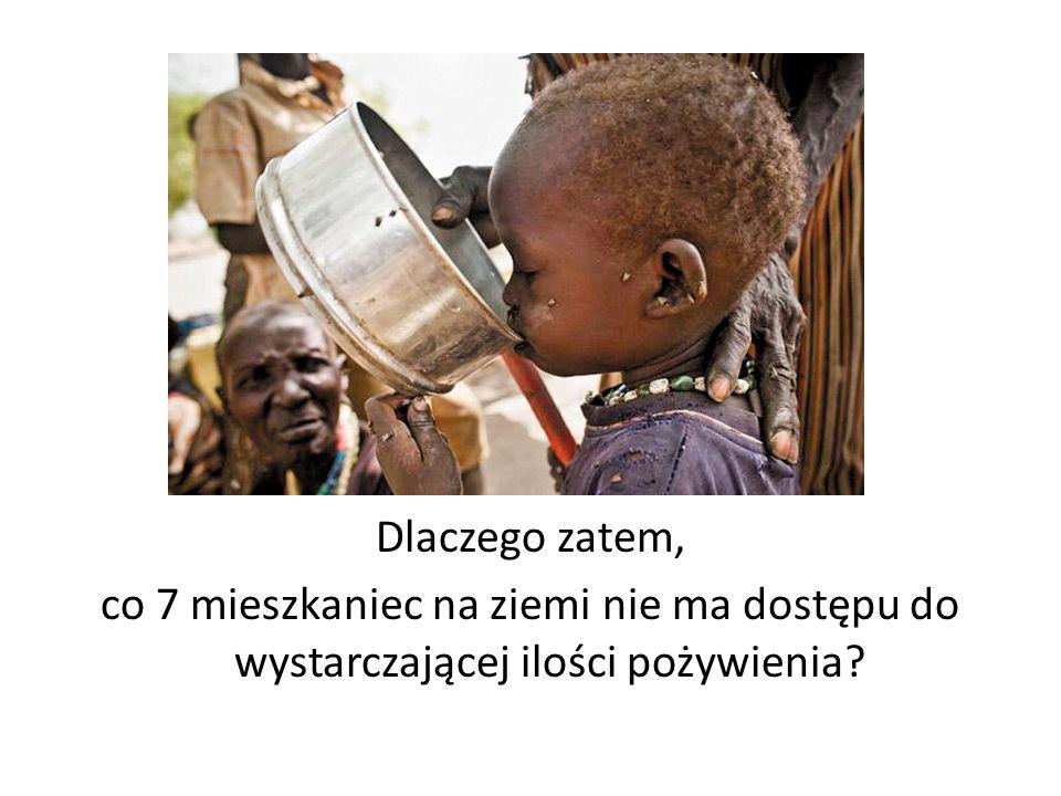 Problem głodu dotyka mieszkańców najróżniejszych krajów.