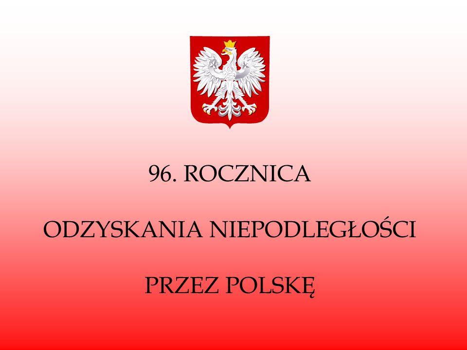 """""""Święto Niepodległości Jest to polskie święto narodowe, obchodzone co roku 11 listopada, na pamiątkę odzyskania przez Polskę niepodległości w 1918 roku po 123 latach rozbiorów dokonanych przez Rosję, Austrię i Prusy (Niemcy)."""