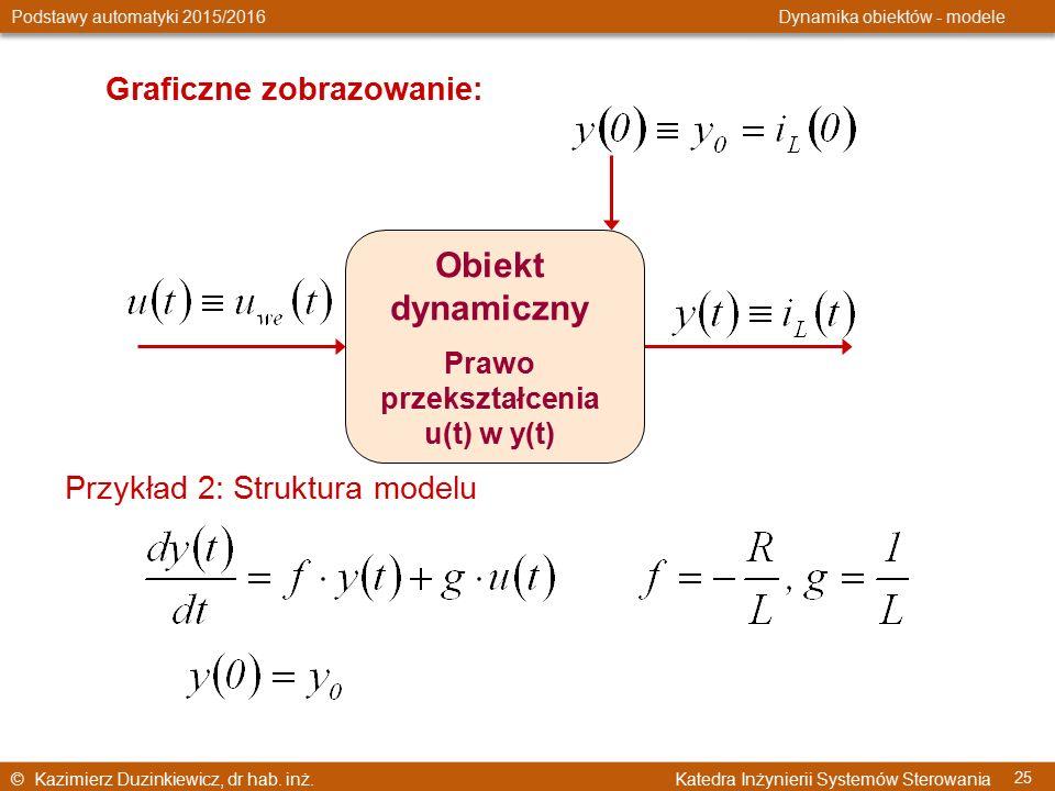 © Kazimierz Duzinkiewicz, dr hab. inż. Katedra Inżynierii Systemów Sterowania Podstawy automatyki 2015/2016 Dynamika obiektów - modele 25 Graficzne zo