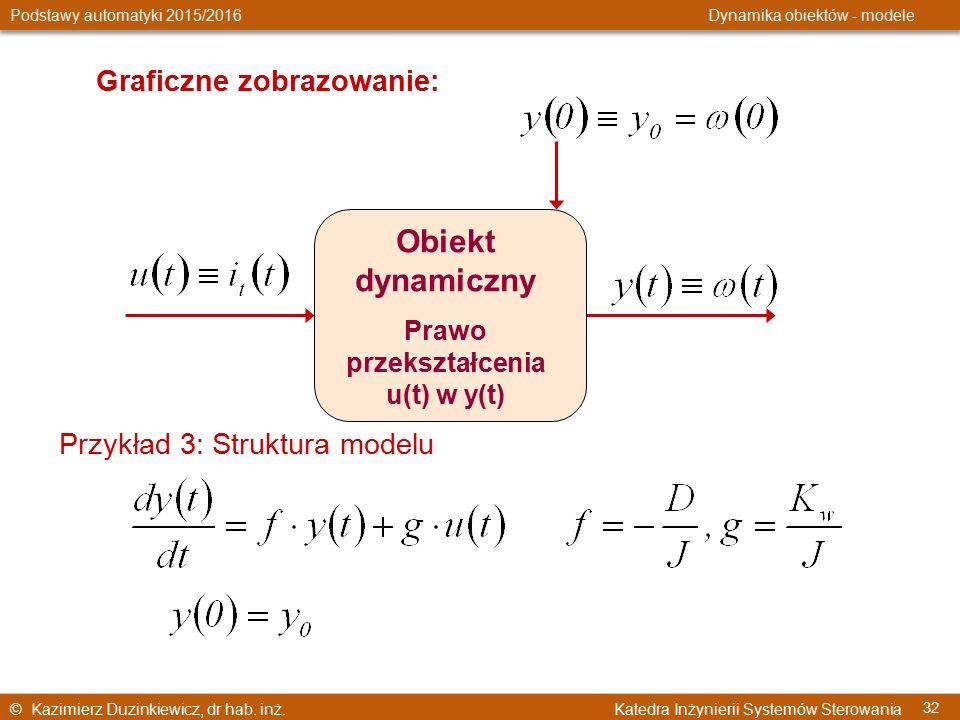 © Kazimierz Duzinkiewicz, dr hab. inż. Katedra Inżynierii Systemów Sterowania Podstawy automatyki 2015/2016 Dynamika obiektów - modele 32 Graficzne zo