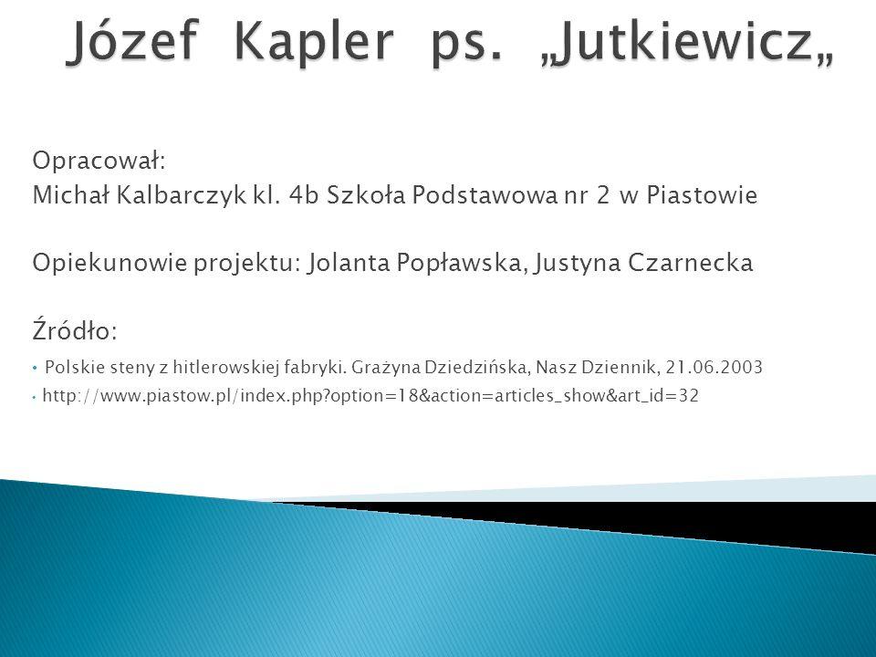 Opracował: Michał Kalbarczyk kl.
