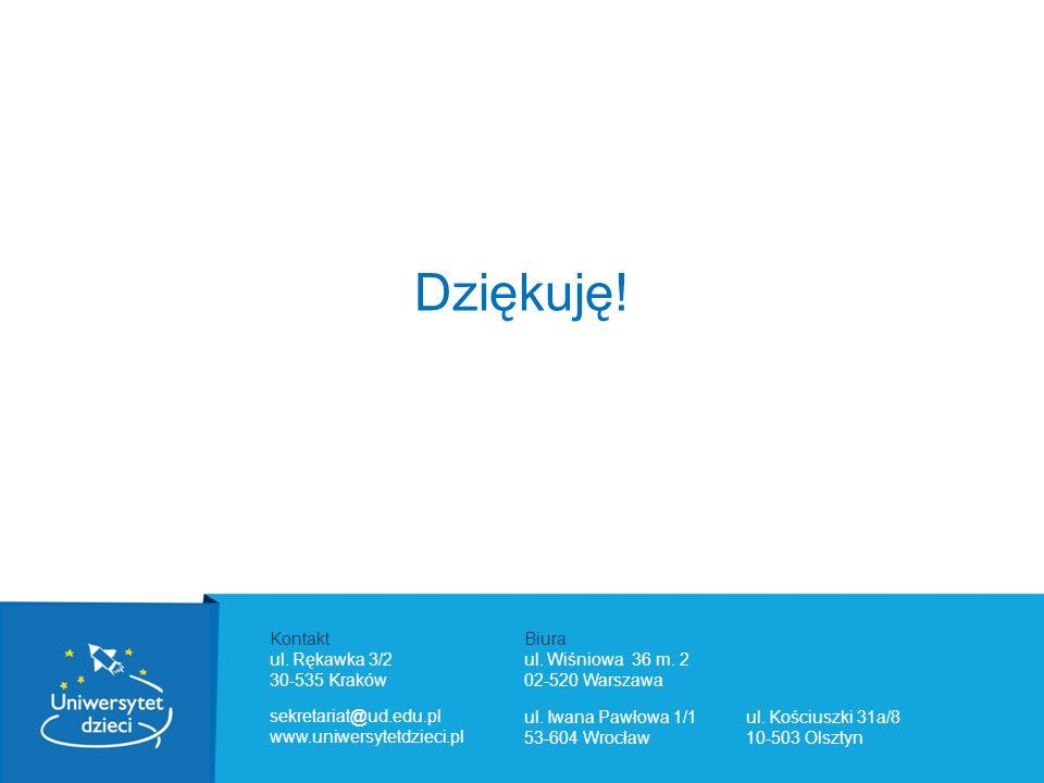 Kontakt ul. Rękawka 3/2 30-535 Kraków Biura ul. Wiśniowa 36 m. 2 02-520 Warszawa ul. Iwana Pawłowa 1/1 53-604 Wrocław ul. Kościuszki 31a/8 10-503 Olsz