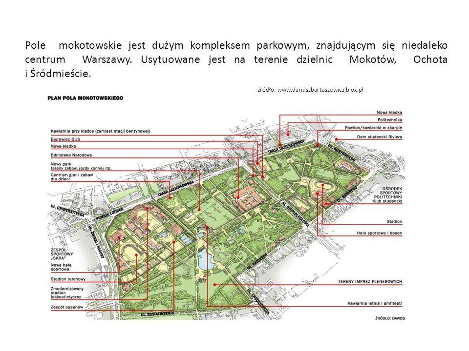 Pole mokotowskie jest dużym kompleksem parkowym, znajdującym się niedaleko centrum Warszawy.