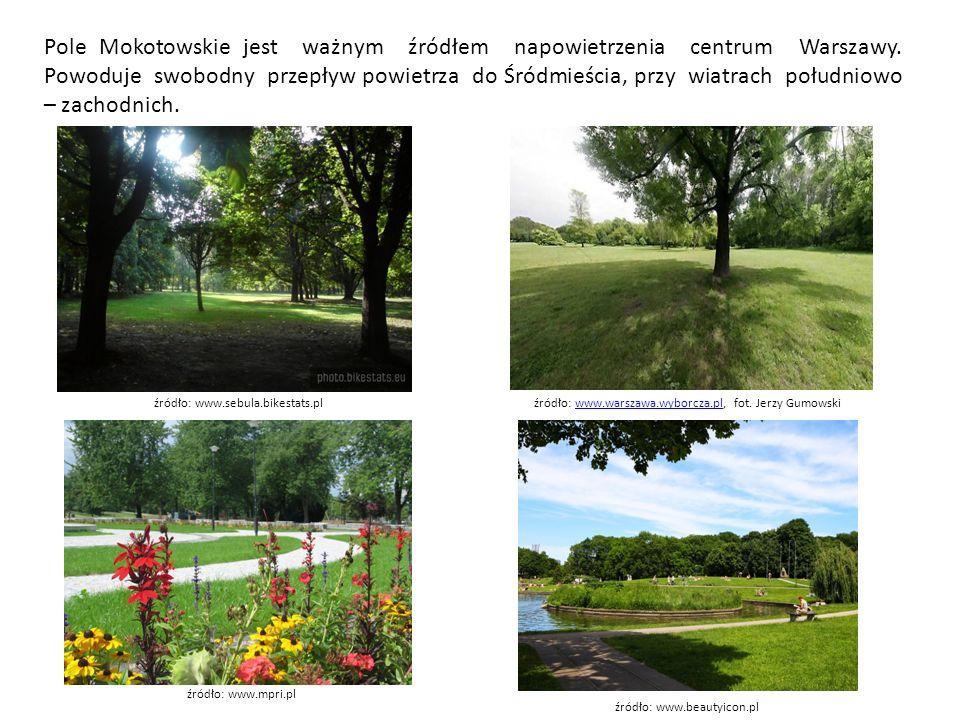 Tylko niewielka część Pola Mokotowskiego leży na obszarze obecnej dzielnicy Mokotów, część przypadająca do ul.