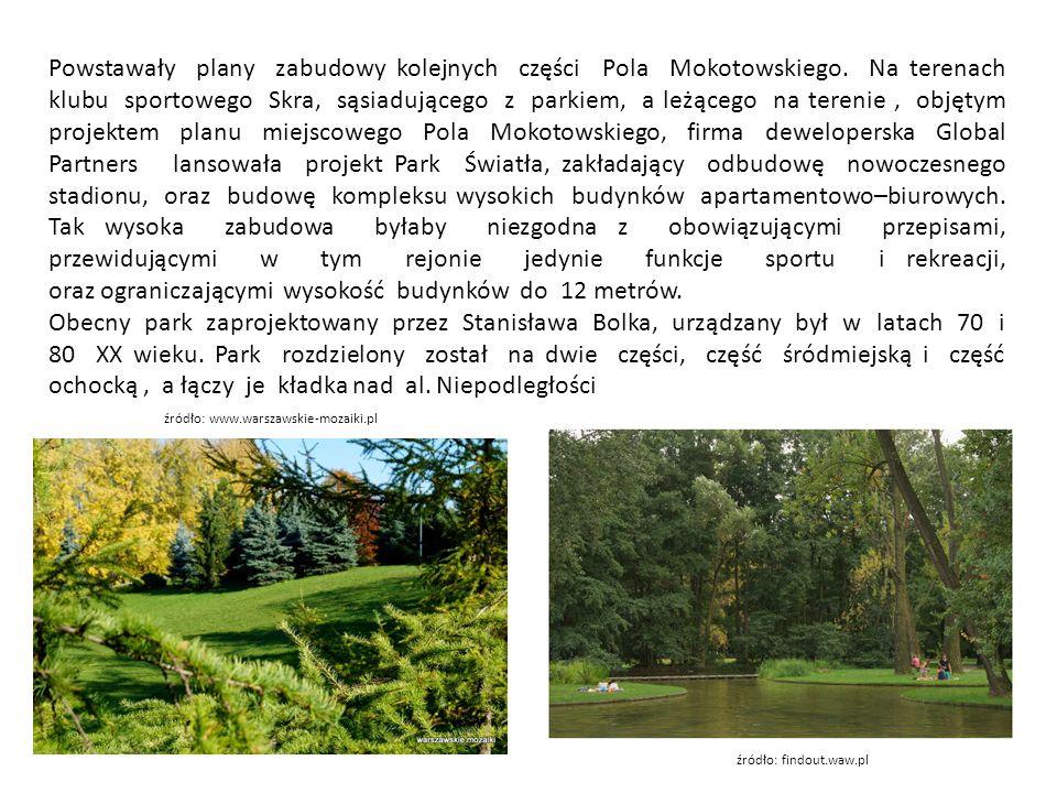 Powstawały plany zabudowy kolejnych części Pola Mokotowskiego.