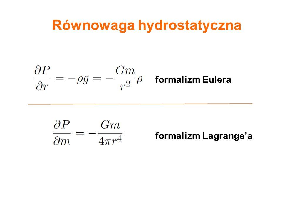 formalizm Eulera formalizm Lagrange'a