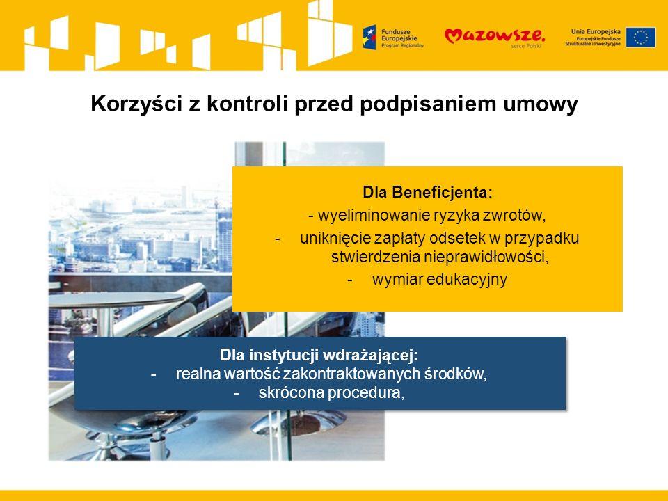 Kolejna kontrola Kontrole prowadzone w trakcie realizacji projektu również będą obejmowały stosowanie ustawy Pzp.