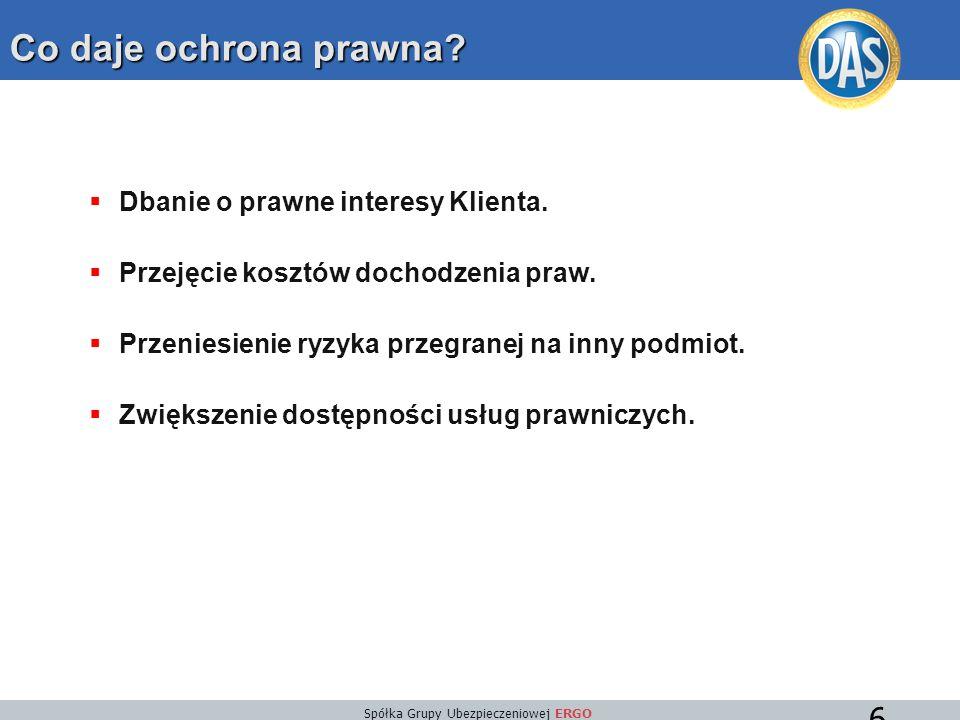 Spółka Grupy Ubezpieczeniowej ERGO 37 Działania podjęte przez D.A.S.: Po powrocie do Polski klient zwrócił się do D.A.S.