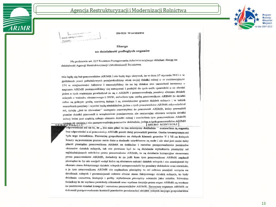 Agencja Restrukturyzacji i Modernizacji Rolnictwa 13