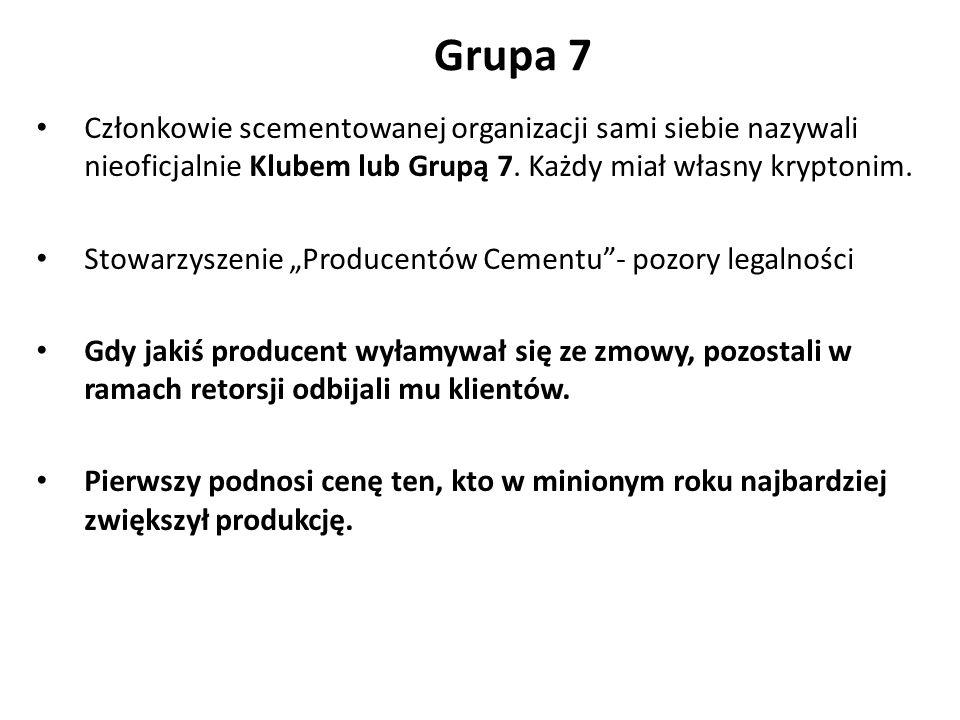 Grupa 7 Członkowie scementowanej organizacji sami siebie nazywali nieoficjalnie Klubem lub Grupą 7.