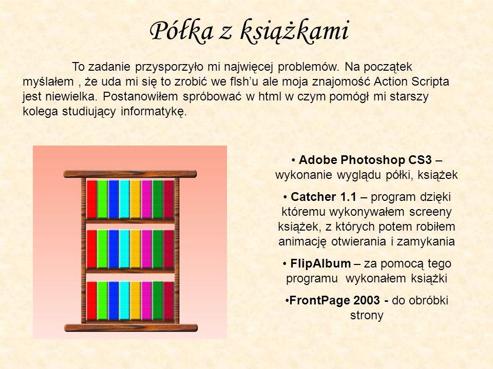 Półka z książkami To zadanie przysporzyło mi najwięcej problemów.
