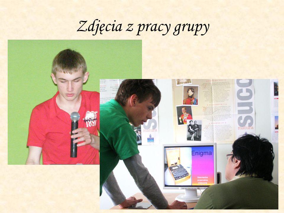 Zdjęcia z pracy grupy