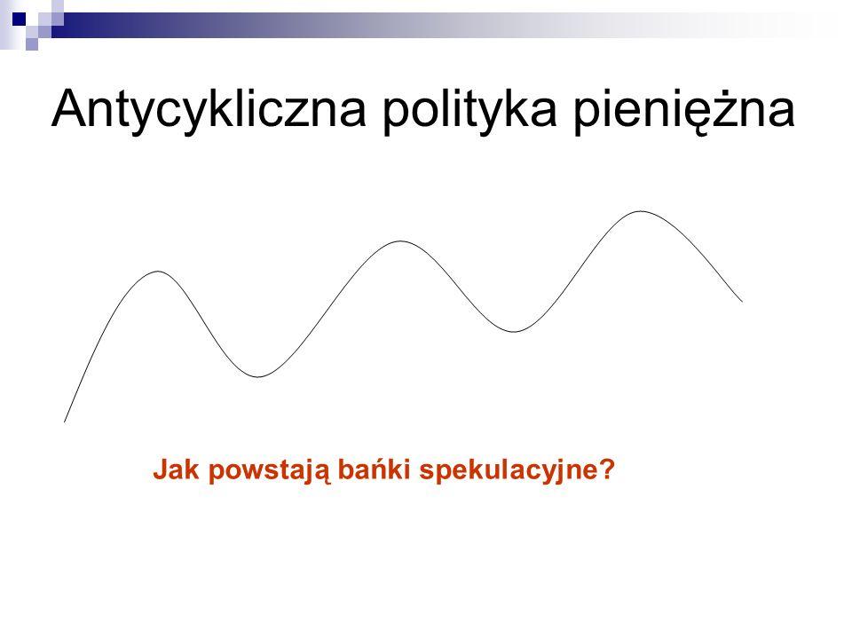 Antycykliczna polityka pieniężna Jak powstają bańki spekulacyjne?