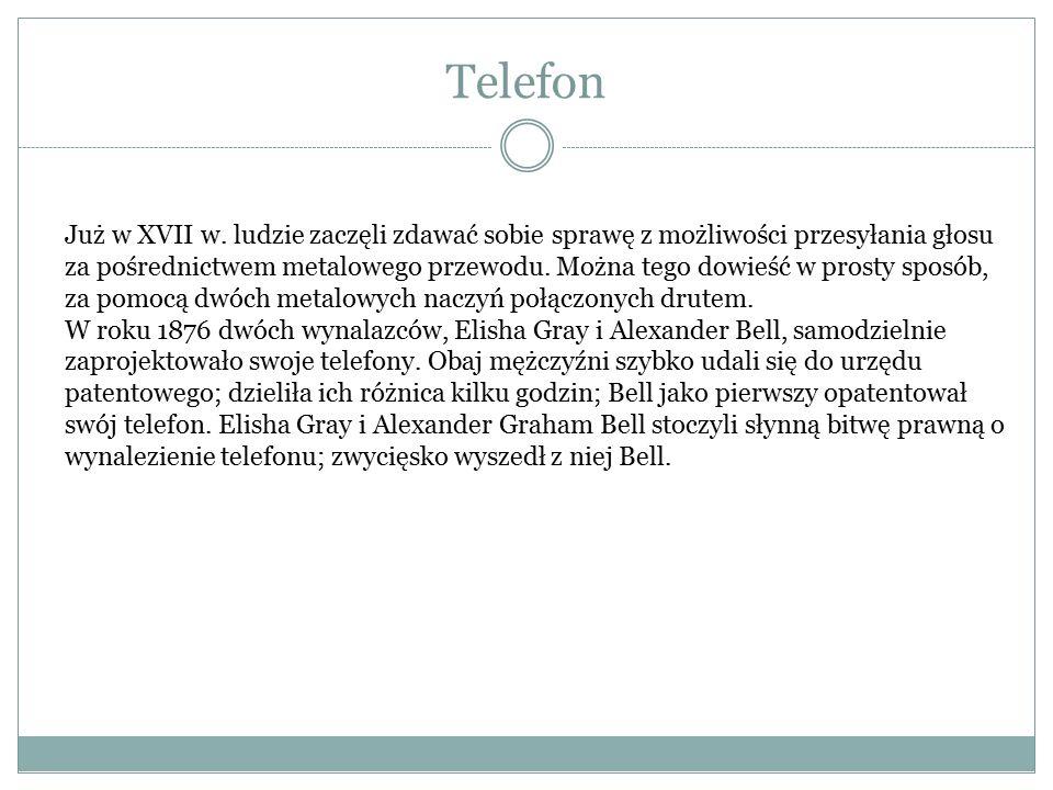 Telefon Już w XVII w.