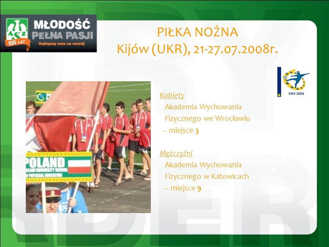 PIŁKA NOŻNA Kijów (UKR), 21-27.07.2008r.